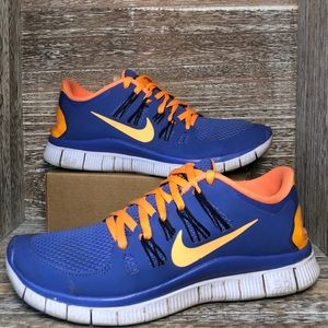 Nike Free 5.0 + Womens Running Shoes Size 7.5 Blue